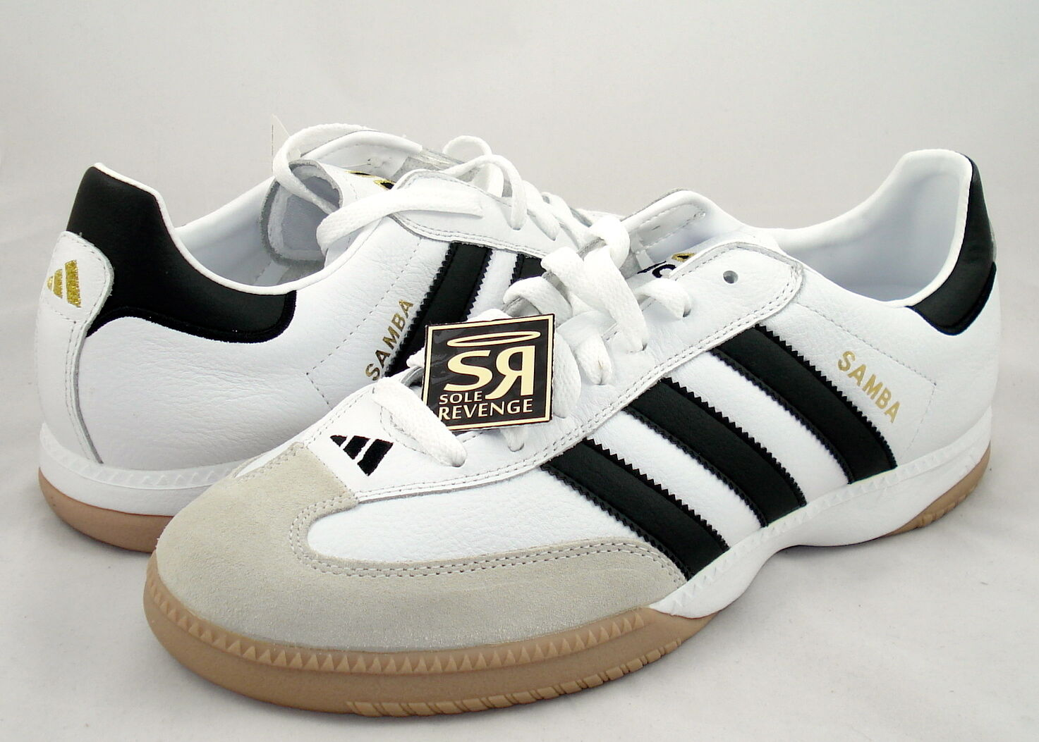 New  Adidas Samba Millennium shoes White Black gold Trainers indoor soccer shoes