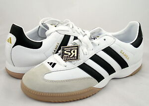 Details about New! Adidas Samba Millennium Shoes White Black Gold Trainers indoor soccer Shoes