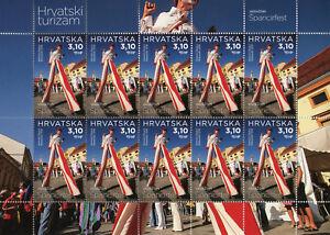 Croacia-2018-estampillada-sin-montar-o-nunca-montada-Varazdin-Turismo-2x-10-V-m-s-arquitectura-las