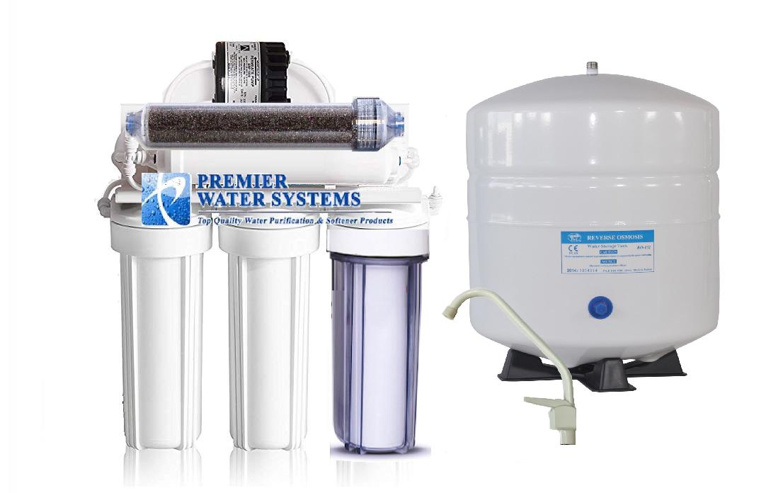 Double usage Osmose Inverse Filtre à Eau Système Aquarium Boisson Rodi + pompe permeate