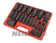 "21 Piece 1/2"" inch Drive Deep Impact Socket Mechanics Garage Tool Set 10 - 38mm"