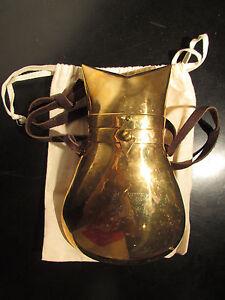 Forro Dorado de cuerpo Latón cruz forma Gato terciopelo Bolsa de para en de Bisjoux el cuero Correa 1vOqfxw4f