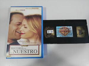 HISTORIA-DE-LO-NUESTRO-TAPE-VHS-COLECCIONISTA-BRUCE-WILLIS-MICHELLE-PFEIFFER