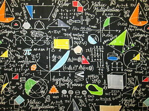 math equations colors black cotton fabric bthy ebay