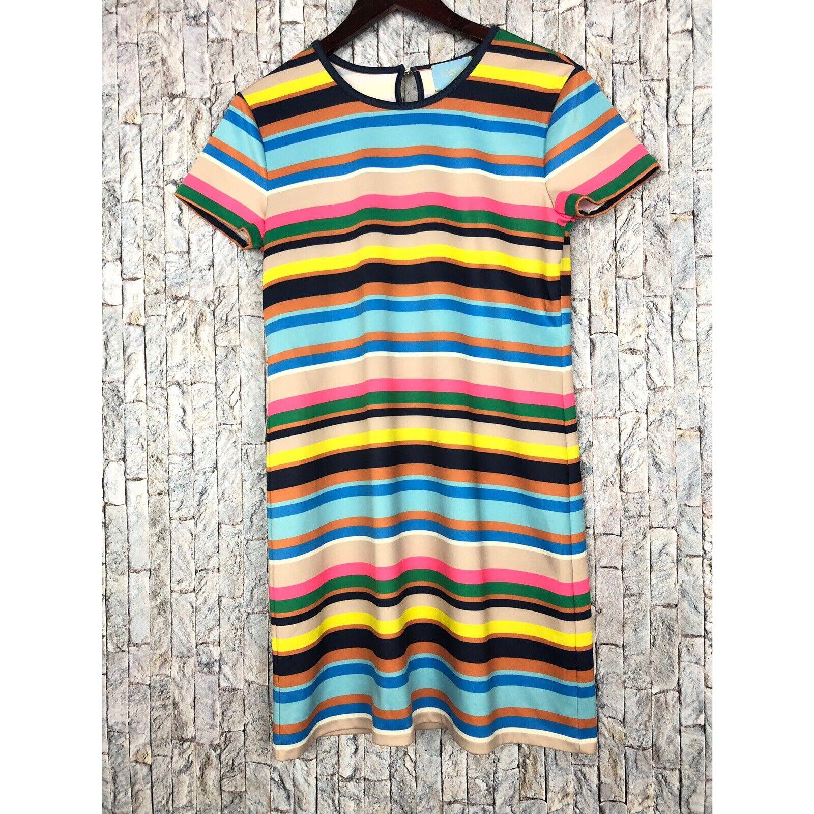 5237cd9c86a7f ... CeCe by by by Cynthia Steffe Striped Shift Dress sz 4 b22f76 ...