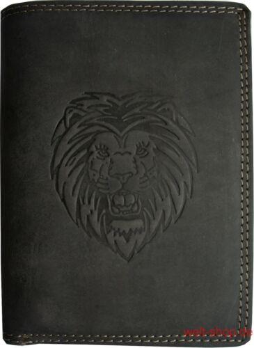 Alta calidad monedero monedero Cartera búfalos cuero león marcado por Africa
