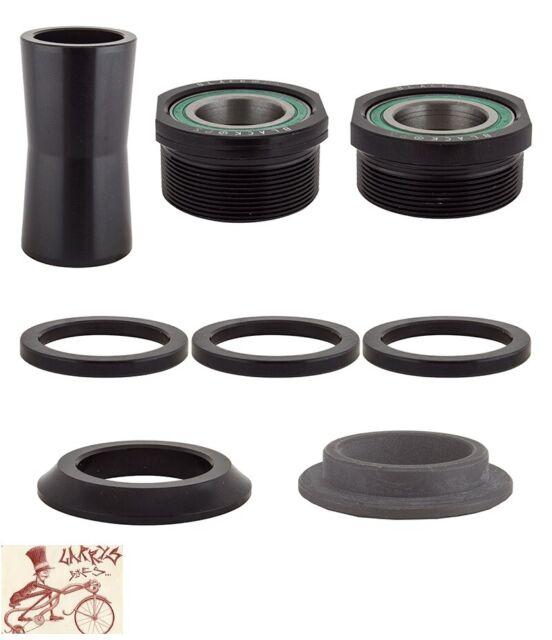 Euro Bottom Bracket 19 mm Black Sealed Bearings European  BB