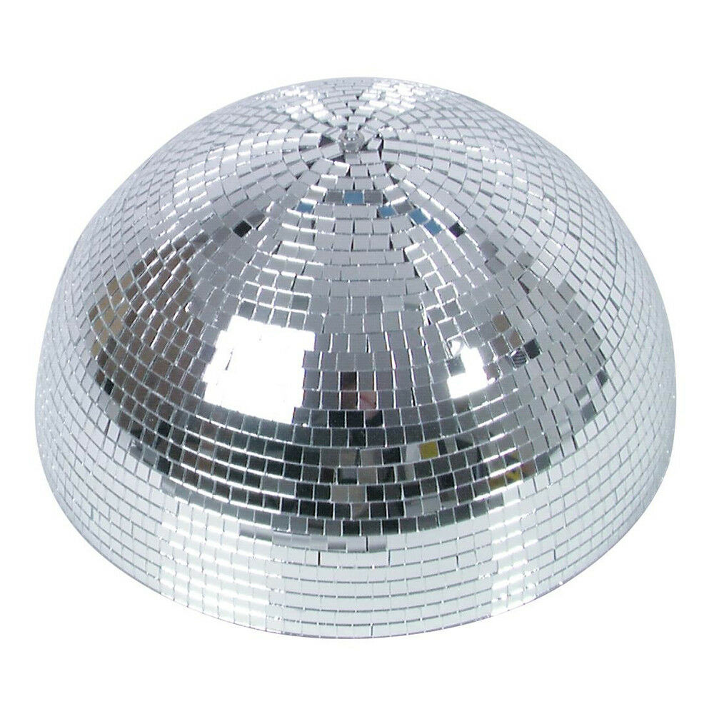 Eurolite Half Mirror Ball Motorised 40cm 400mm Disco Glitter Party Mirrorball