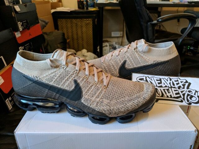 1234dd20abf22 Nike Air Vapormax Flyknit Pudding Khaki Tan Beige Anthracite Black  849558-201