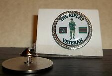 HM Armed Forces The Rifles Veteran lapel pin badge .