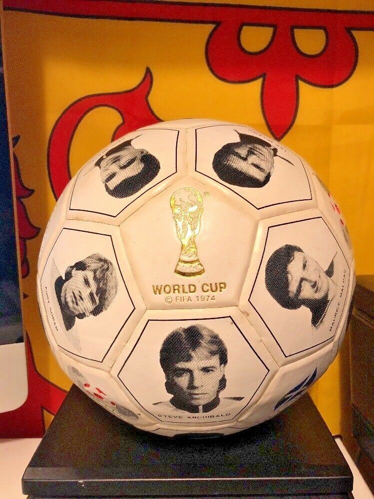 Recuerdo oficial con licencia de la Copa del Mundo MEXICO 1986 Escocia Escuadrón De Cuero De Fútbol