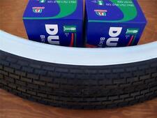 Two(2) Duro 26x2.125 Beach Cruiser Bicycle Tires & 2 tubes Brick White Wall