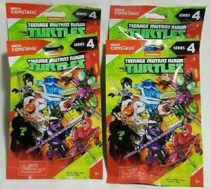 4 X Mega Construx Teenage Mutant Ninja Turtles Series 4 Aveugles Pack Livraison Rapide