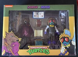 TMNT Neca 2 Pack Splinter vs Baxter Teenage Mutant Ninja Turtles