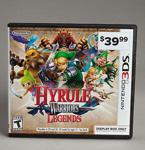 Details about HYRULE WARRIORS LEGENDS 3DS Promo GameStop Display Case No  Game No Manual