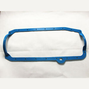 Fit Ford 260 289 302 1 Piece Oil Pan Gasket Blue 1964 - 73 Mustang Truck Falcon