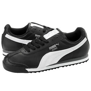 38549ecb Puma Roma Basic Black White Men's Size 7.5 to 11 Sneakers New In Box ...