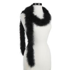 Black 25 Gram Marabou Feather Boas - 6 Feet Long - Halloween Costumes - Trim