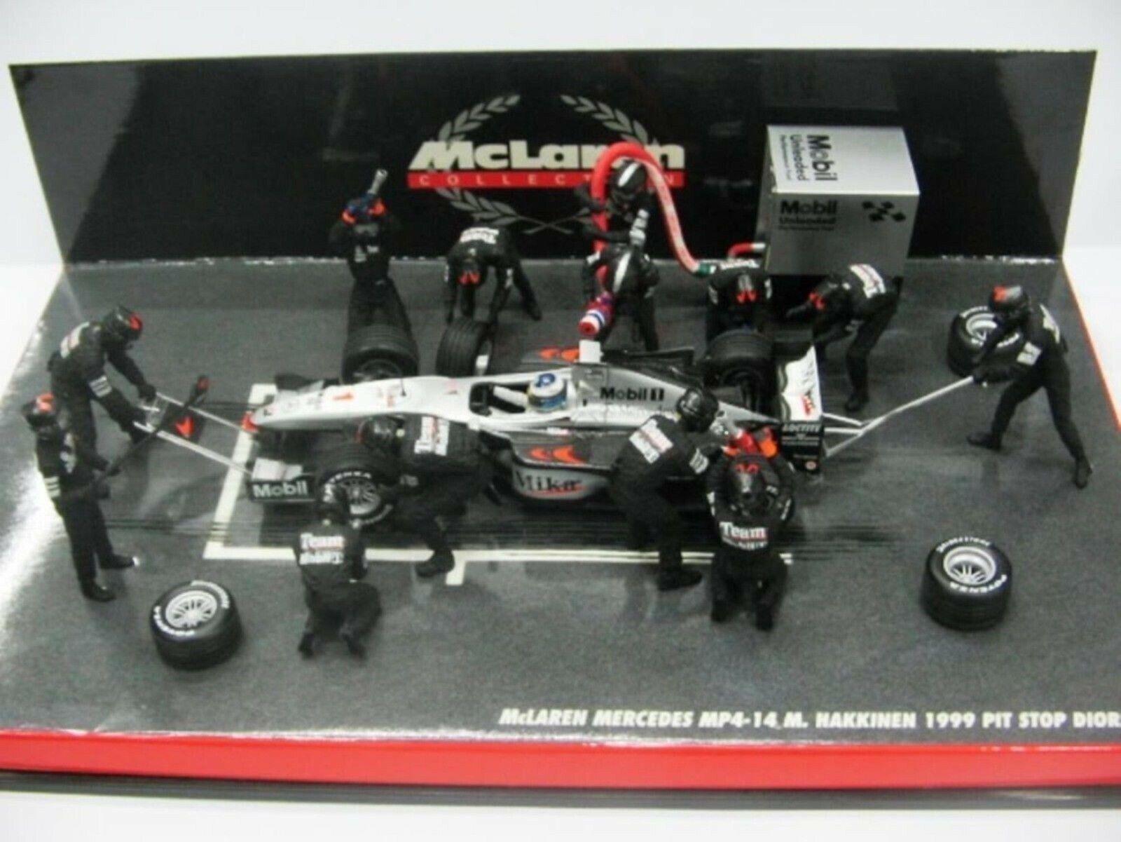 Wow extremadonnate raro McLaren 1999 MP4 14 MB Parada dio obligaba 1 43 Minichamps