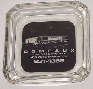 Vintage Comeaux Furniture Appliance Ashtray Metairie New Orleans La
