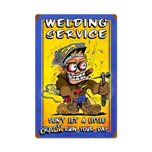 VINTAGE STYLE METAL SIGN Welding Service  16 x 24