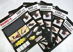9-x-11-Wet-Dry-Latex-Sandpaper-Keen-Abrasives-5-Sheets-You-Choose-Grit