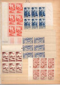 Timbres-Maroc-9-blocs-de-6-bords-de-feuille-neufs