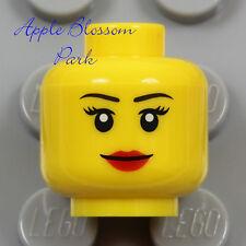 NEW Lego Female MINIFIG SMILE HEAD Castle Princess Girl Red Lips Lip Stick Agent