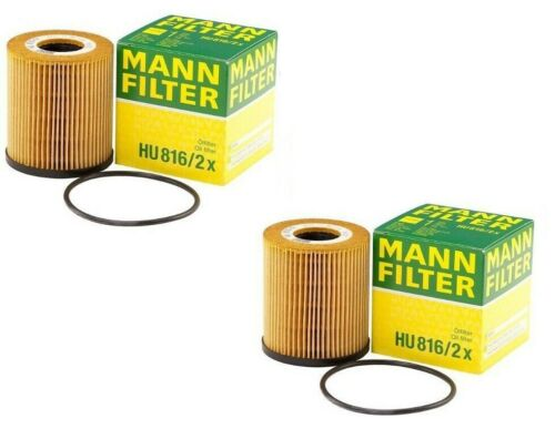 Pair Set of 2 Engine Oil Filters Mann HU 816//2 x for Mini R53 Cooper 02-08 1.6