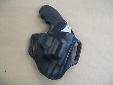 Ruger SP101 Revolver Leather 2 Slot Molded Pancake Belt Holster CCW BLACK RH