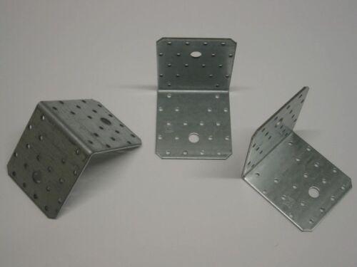 50x starke Winkelverbinder 100x100x90x3 mm ohne Rippe verzinkter Stahl Bauwinkel