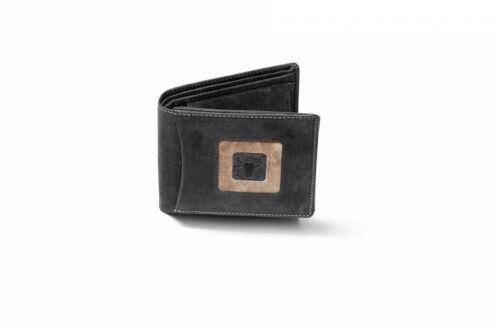 Geldbörse aus Wildleder mit echtem Stierfell Querformat