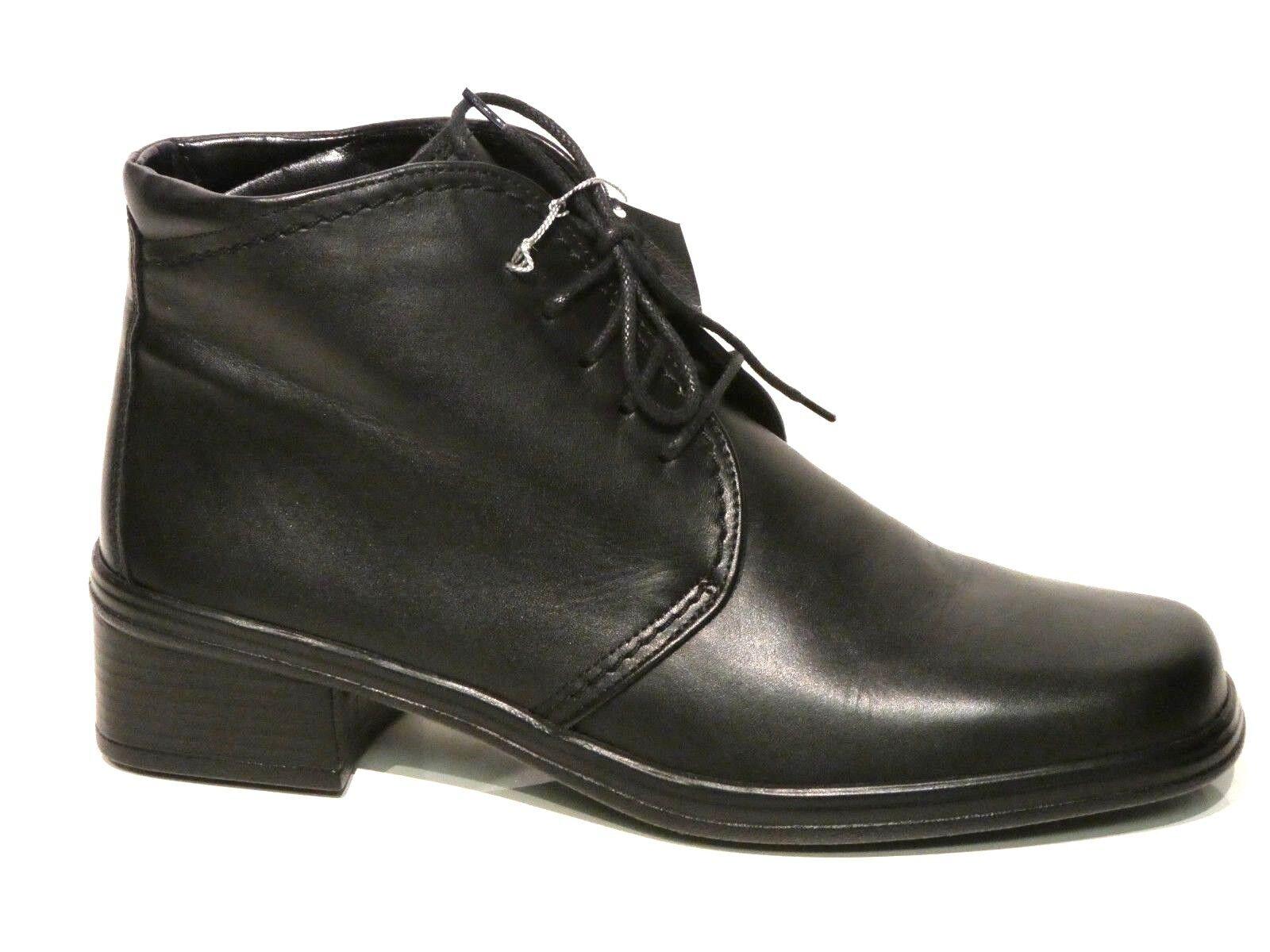 Gr. Heels, High Stiefeletten, Gabor 42, spitz schwarz
