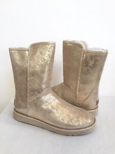 b0551205a34 Details about UGG CLASSIC ABREE SHORT II STARDUST METALLIC GOLD Boot US 10  / EU 41 / UK 8.5