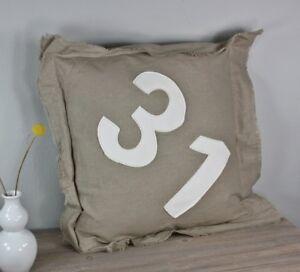 coussin-50x50cm-Nombre-31-numeros-blanc-creme-Beige-decoratif-remplissage