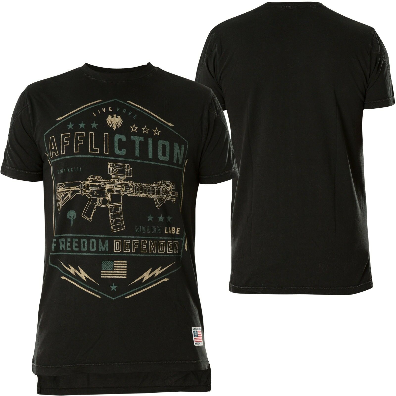 AFFLICTION T-Shirt Recoil Schwarz T-Shirts