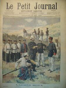 MADAGASCAR-ARMEE-HOVA-MARAKELY-OFFICIERS-COMTESSE-ET-LIONS-LE-PETIT-JOURNAL-1895