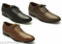 Mens Lace-up Shoes Leather Derby Formal Evening Casual Part Size Sole Boys