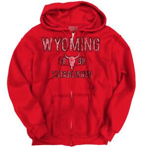 Wyoming-State-Pride-T-Shirt-State-Flag-USA-Skull-Shirt-Gift-Zipper-Hoodie