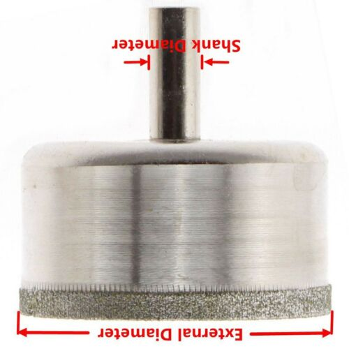 Diamond Tip Drill Bits Coated Hole Saw Cutter 60 mm pour Verre Carrelage Pierre