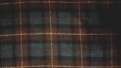 "44/"" Wide M507 By 1//2 Yd Brown Glen Plaid Soft Wool-Blend Suiting"