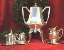 The Park Lane R. Wallace Reed & Barton Coffee Serving Set Silver Soldered RARE!