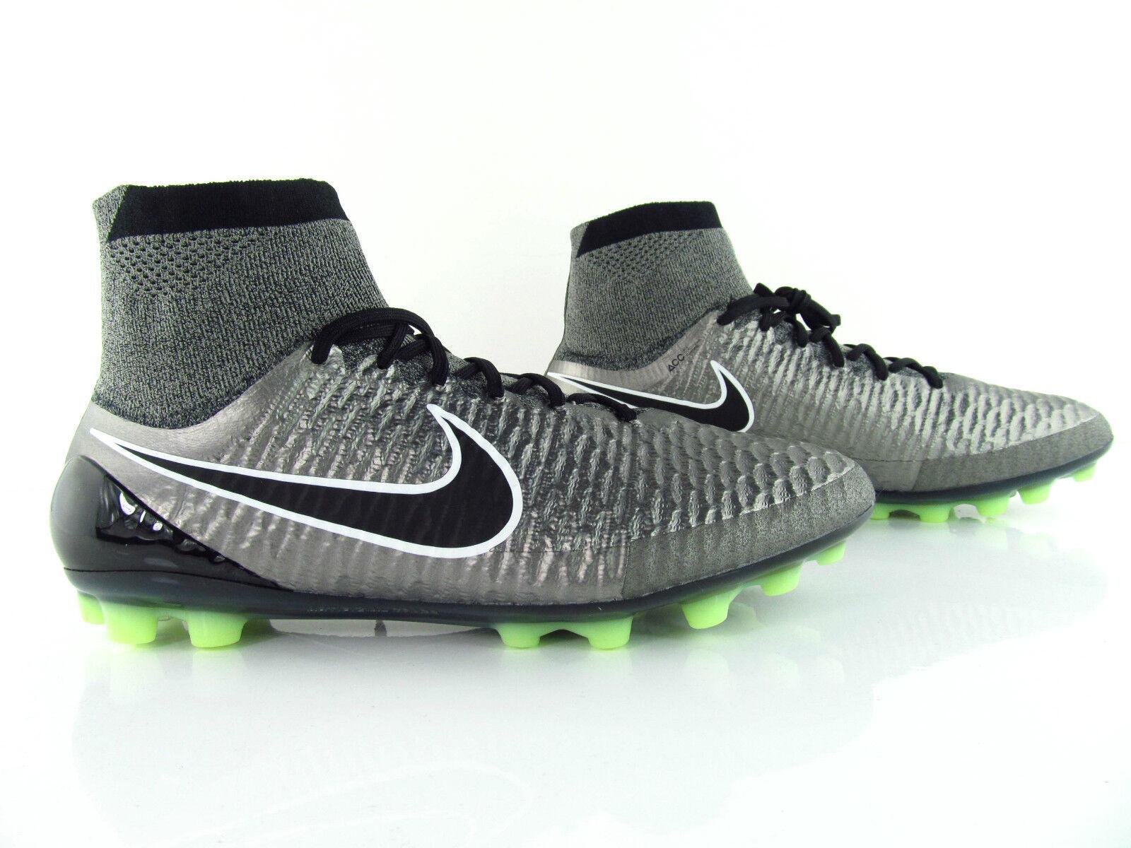 Nike Magista Obra AG-R Silber Sock Cleats Football US_13 Eur_47.5