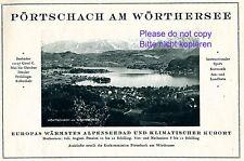 Pörtschach am Wörthersee Reklame 1927 wärmstes Alpenseebad Werbung Östrerreich