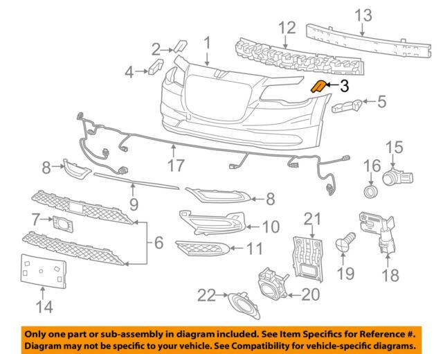 FRONT BUMPER BRACKET for CHRYSLER 300 2011-18 PAIR 57010745AF