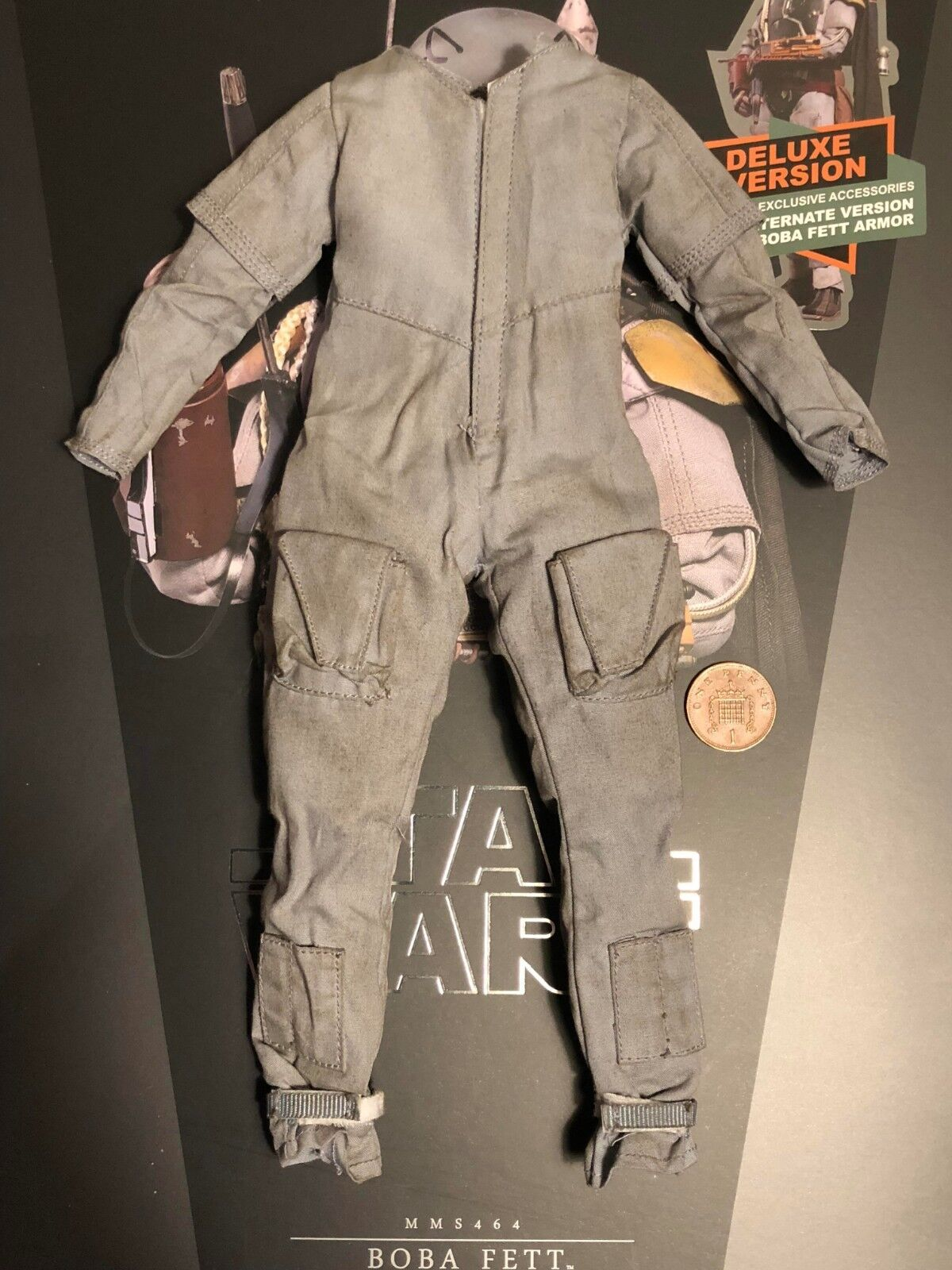 Hot Toys Star Wars ESB Boba Boba Boba Fett DELUXE MMS464 Boiler Suit loose 1 6th scale 53a5b7