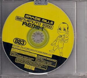 883 - GRAZIE MILLE / BENVENUTO 2000 REMIX - CD Singolo PROMO - Italia - 883 - GRAZIE MILLE / BENVENUTO 2000 REMIX - CD Singolo PROMO - Italia