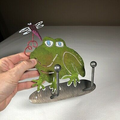 Tree Frogs watching Dragonfly 36x24 Gallery Quality Metal Art