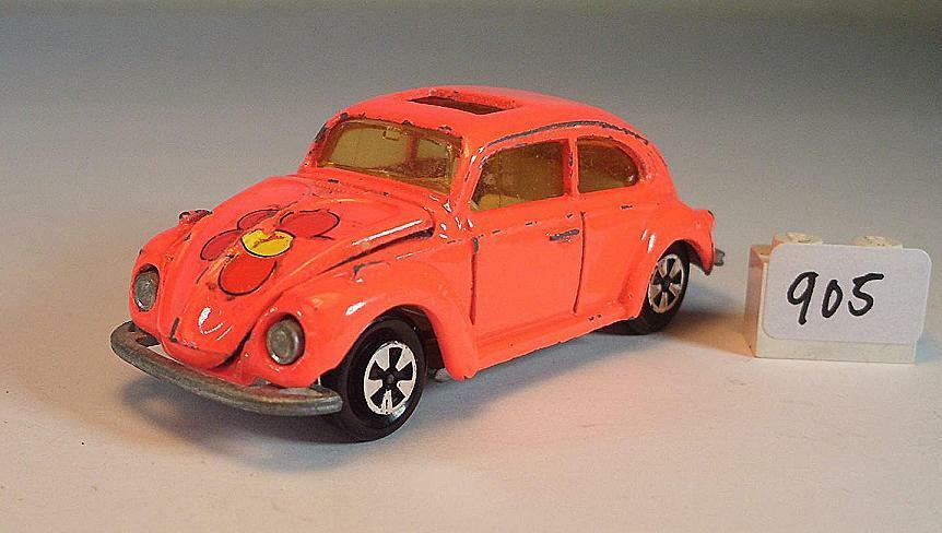 Majorette 1 60 nº 203 202 VW VOLKSWAGEN 1302 Berline Orange fluo M. Fleur  905