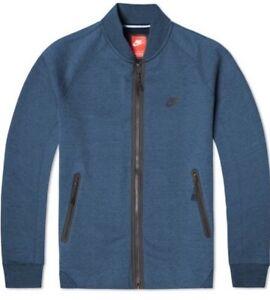 Detalles de Nike Chaqueta Tech Forro Polar Varsity Mens Jacket Azul TALLA S